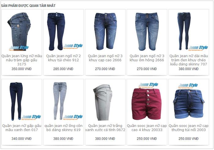 Shop quần jean nữ tại Jeans Style