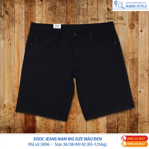 Jean ngố nam  big size màu đen 3896