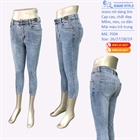 Jeans lỡ dáng ôm, cạp cao, mài sáng 7004