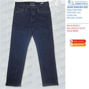 Jeans nam dáng đứng co giãn 80631-80632