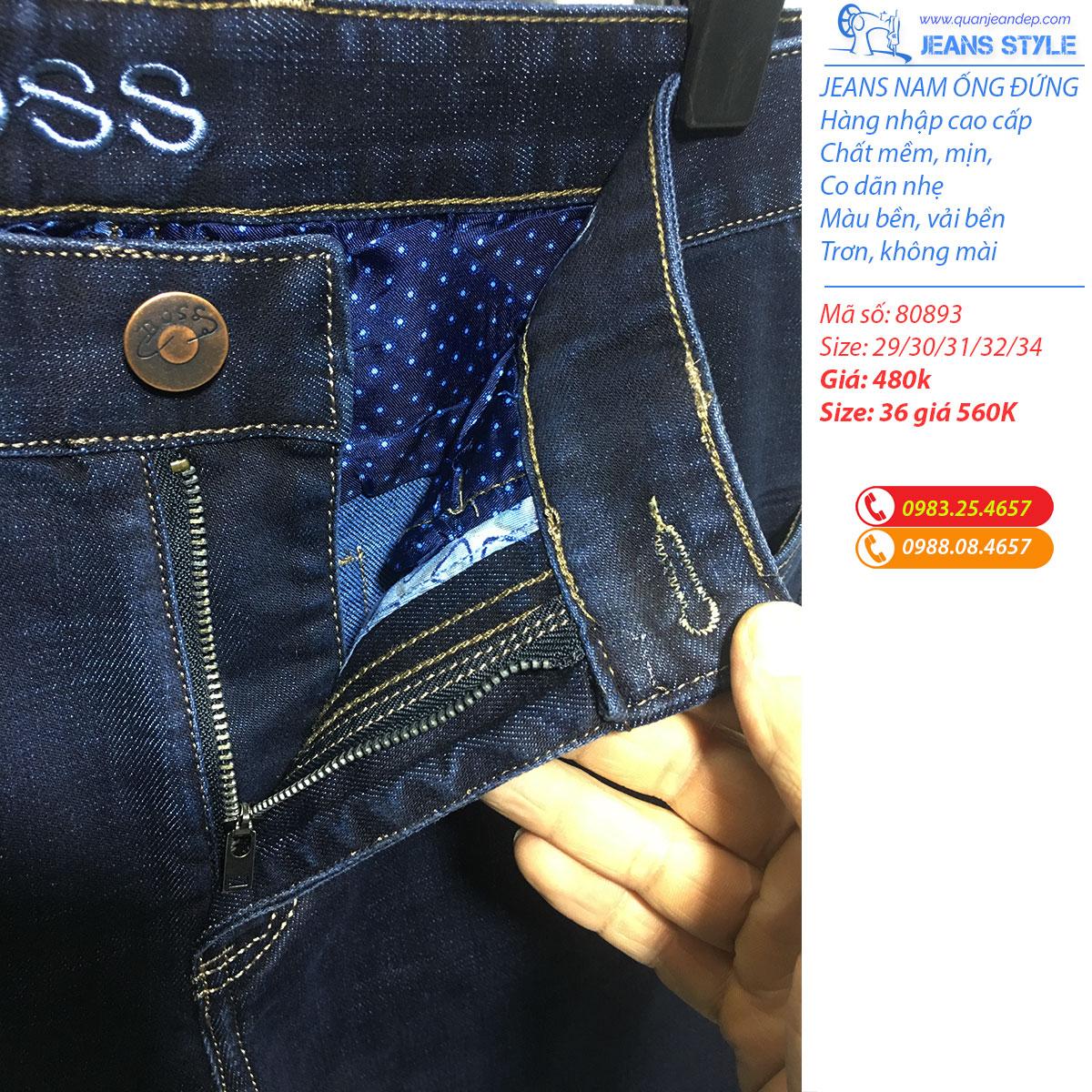 Jeans nam dáng ống đứng co giãn 80893 Giá:480.000,00 ₫