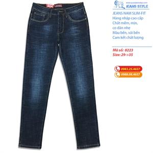 Jeans nam dáng slim-fit co giãn nhẹ 8223
