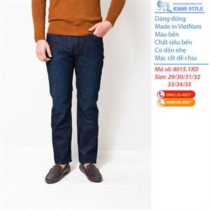 Jeans nam ống đứng, chất dày dặn, co dãn nhẹ 8015.1XD