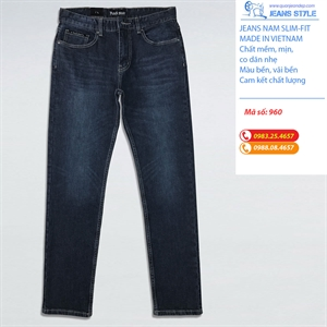Jeans nam Slim-fit, co dãn 960