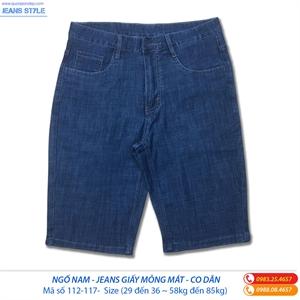 Jeans ngố nam chất  vải mỏng mát 112-117