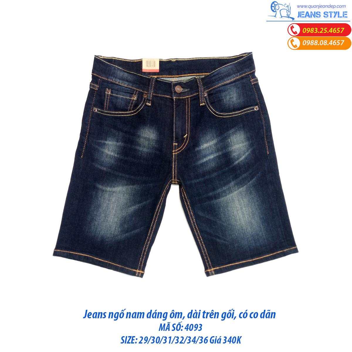 Jeans ngố nam dáng ôm trên gối 4093 Giá:238.000,00 ₫