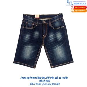 Jeans ngố nam dáng ôm trên gối 4093