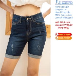 Jeans ngố ngắn, dáng ôm, cạp cao XK 618.1