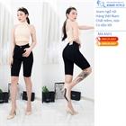 Jeans ngố nữ đen tuyền, cạp cao A501