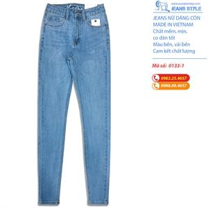 Jeans nữ dáng dài, ôm sát mài nhẹ 0133