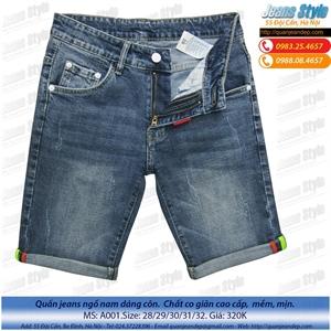 Ngố jeans nam dáng ôm A001