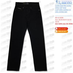 Quần jean nam đen tuyền dáng xuông 8508