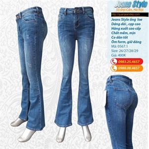 Quần jean nữ ống loe, cạp cao 0567.1