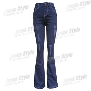 Quần jean nữ ống vẩy, cạp cao Loe 04-D