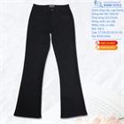 Quần jean nữ ống vẩy size lớn, đen tuyền