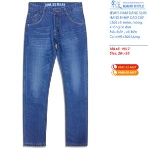 Quần Jeans nam dáng slim-fit 9817