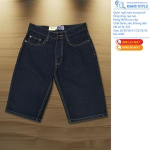 Quần Jeans ngố nam cạp cao, ống đứng trung tuổi N_505