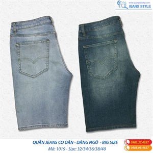 Quần Jeans ngố nam co dãn size lớn 1019