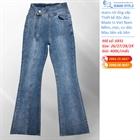 Quần jeans nữ ống vẩy cạp cao cá tính 6931