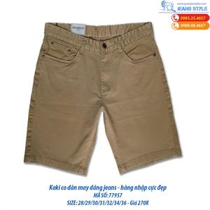 Quần ngố nam KaKi may dáng jeans màu vàng 77957
