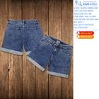 Quần sooc jeans dáng dài, cạp cao VNXK 2051.1