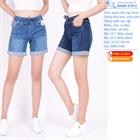 Quần sooc jeans dáng dài, cạp chun 53
