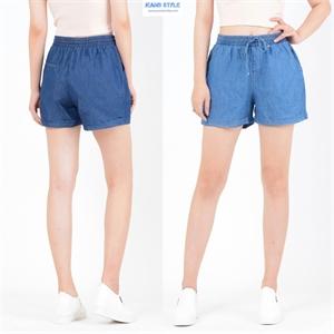 Sooc Jeans giấy, cạp chun, dáng rộng, không dãn 1205